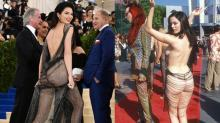 Kendall Jenner Wears Behind-Baring Dress to Met Gala, Channeling Famous Past Look