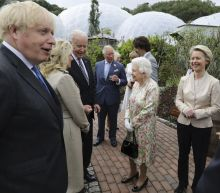 The Latest: Queen Elizabeth II hosts G-7 leaders, spouses