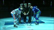 Canucks honor Royal Canadian Navy