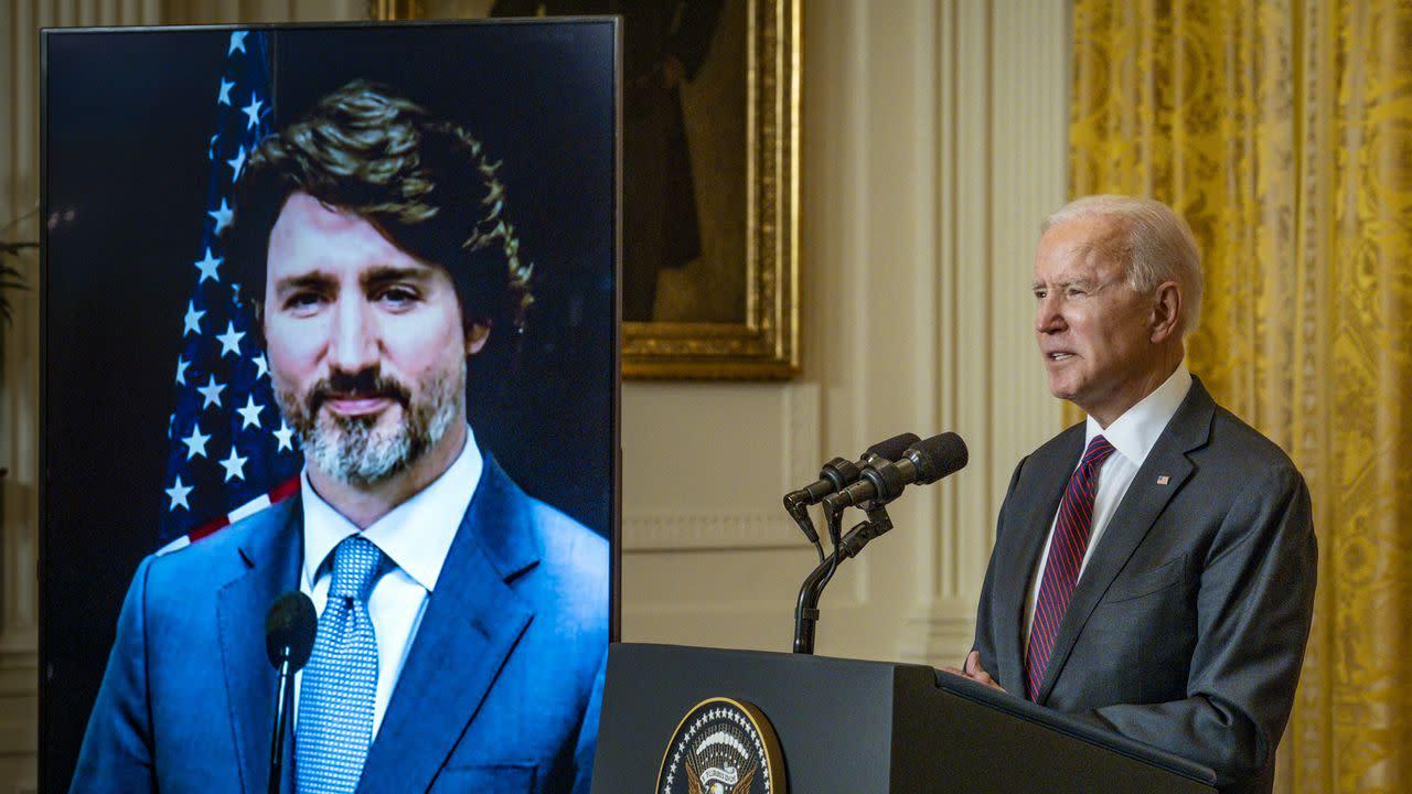 Trudeau takes swipe at Trump in virtual meeting with Biden