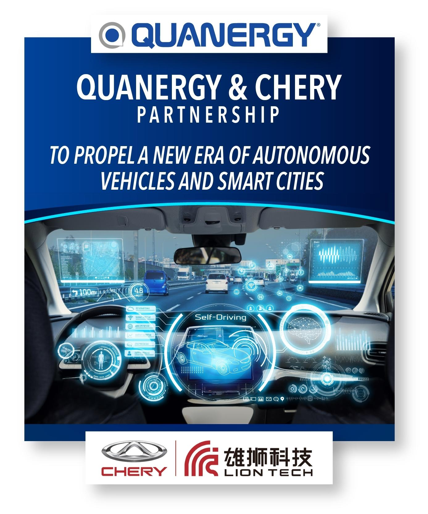 Quanergy and Chery Established Partnership to Propel a New Era of Autonomous Vehicles and Smart Cities