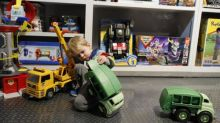 Ouch! My son got into a painful row over toy trucks