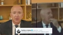 Jeff Bezos, World's Richest Man Snacking during Tech Hearing Sparks Jokes on Twitter