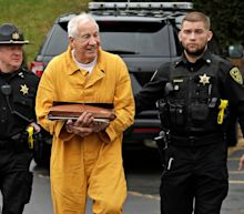 Ex-Penn State coach Jerry Sandusky appears in court for resentencing in sex abuse conviction