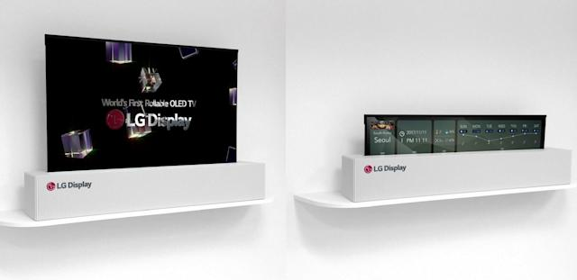 LG Display unveils a 65-inch rollable OLED