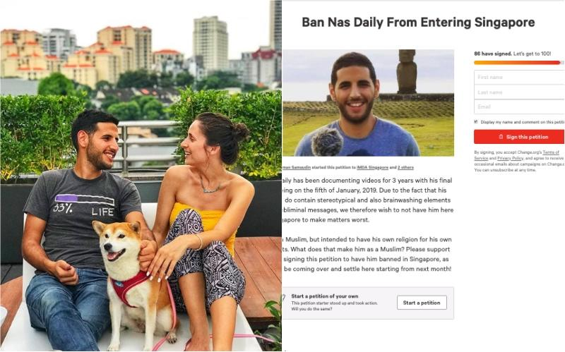 Nas Daily's moving to Singapore in April, and not everyone's happy about it