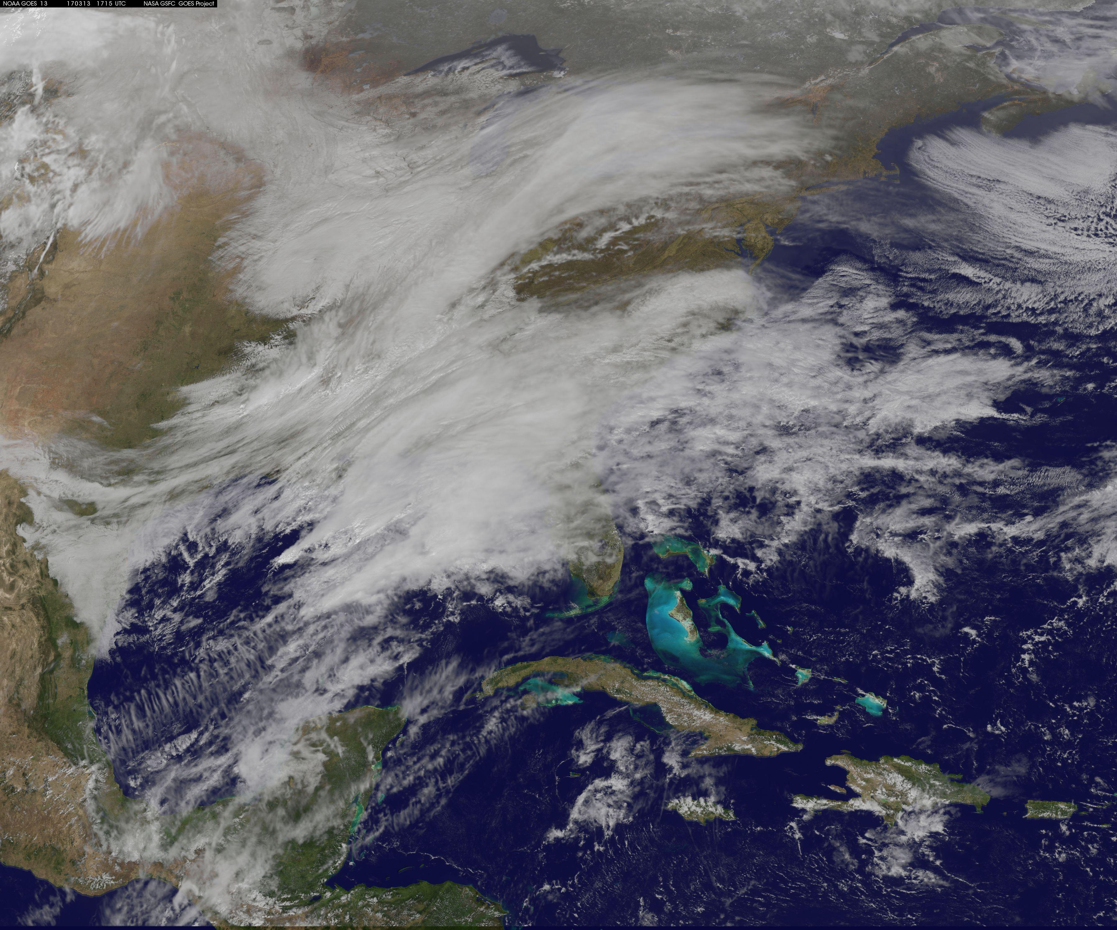 Satellites Track Huge Snow Storm's Approach to US East ...