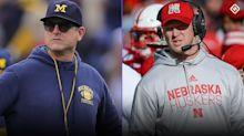 Jim Harbaugh, Scott Frost have a point: This season, a football field might be the safest place for players