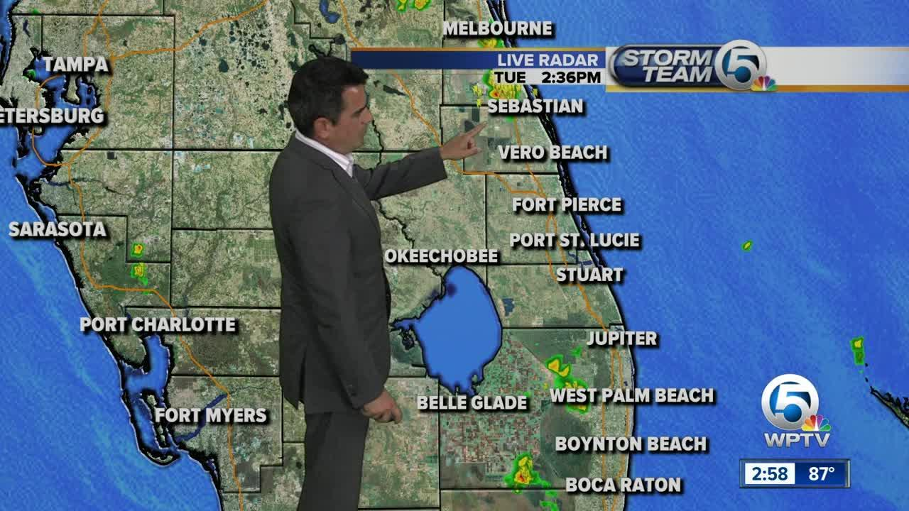 Tuesday mid-afternoon forecast