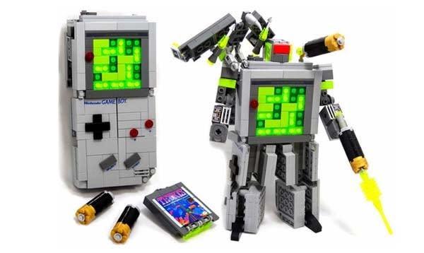 Lego Game Boy Transformer uses blocks for more than Tetris