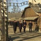 Angela Merkel visits the Auschwitz-Birkenau memorial
