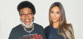 Kim Kardashian with Julius Jones's mother, Madeline Jones. (Kim Kardashian)