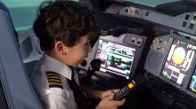 Six-year-old boy becomes Etihad pilot for day