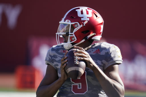 No. 10 Hoosiers lose starting QB for Big Ten homestretch