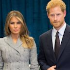 Was Prince Harry Signalling A hidden Message In These Pictures With Melania Trump?