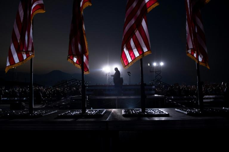 US President Donald Trump speaks during a campaign rally at the Minden-Tahoe airport in Minden, Nevada on September 12, 2020