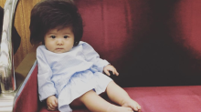One seven-month-old baby is going viral thanks to her unbelievable hairdo