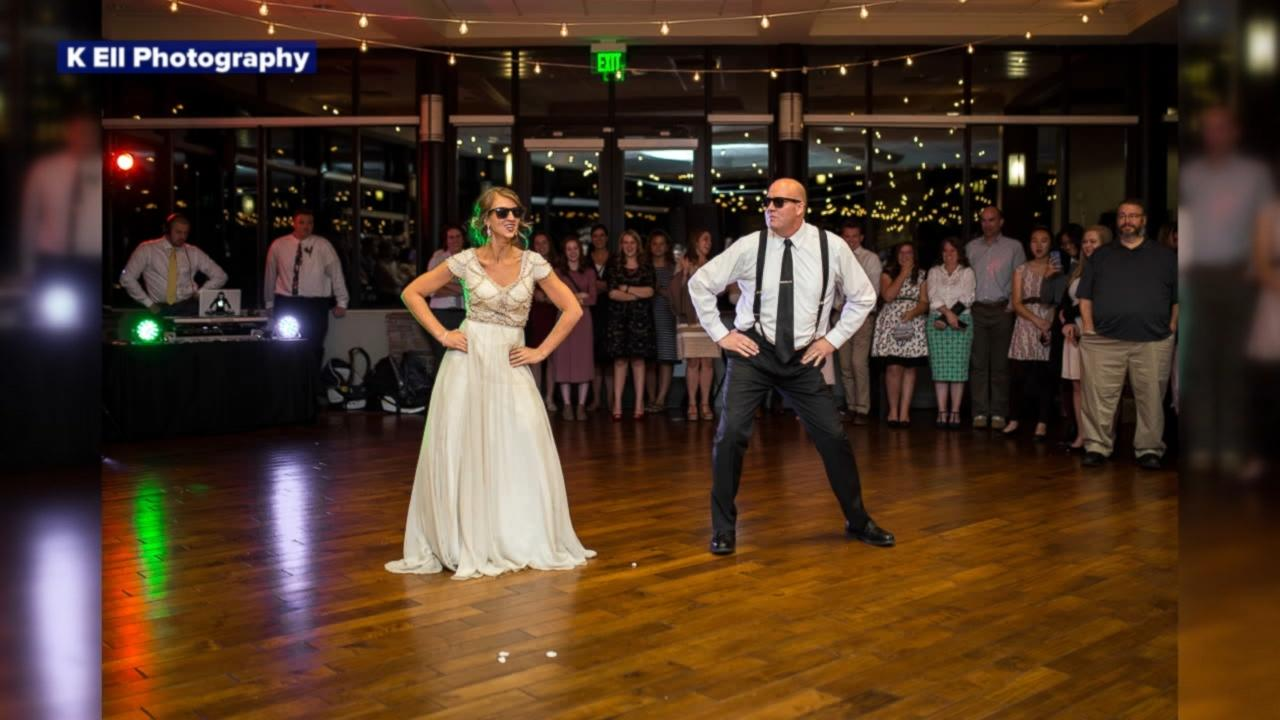 Dad And Daughter Perform Epic Wedding Dance Mashup-2230