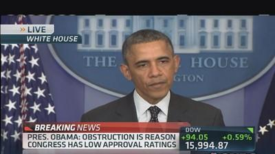 Pres. Obama: Americans never been more frustrated with Wa...
