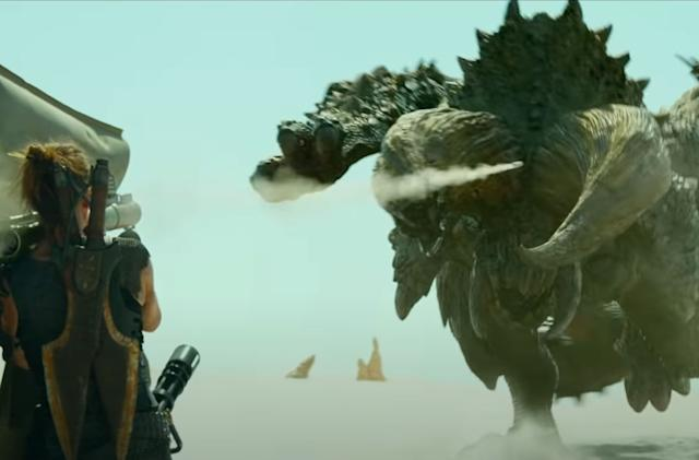 Shockingly, the 'Monster Hunter' movie trailer is full of giant beasts