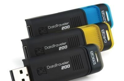 Kingston rolls out 128GB DataTraveler 200 USB flash drive