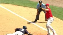Behold the strangest pickoff play you'll ever see