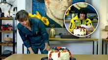 Past & present Bake Off hosts compete in cake challenge