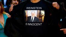 Filmmaker walks Venice red carpet in shirt declaring 'Harvey Weinstein is innocent'