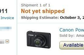 Canon S100 gets early October estimate from Amazon, likely to ship ahead of November release