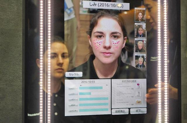 Panasonic's smart mirror finds your flaws, prints makeup to fix them
