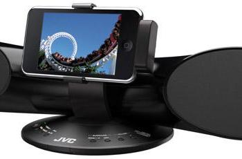 JVC gets tubular with XS-SR3 iPod speaker dock