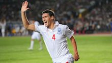 Former England midfielder Gareth Barry waves goodbye to football