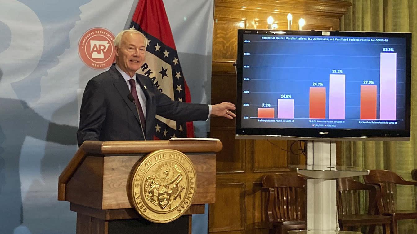 Arkansas governor regrets law banning mask mandates