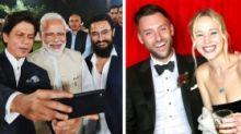 QuickE: SRK at PM Modi's Event; Jennifer Lawrence Gets Married