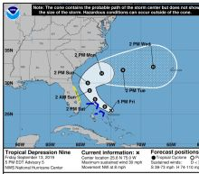 Another storm is threatening to hit the Bahamas and Florida with tropical storm-force winds and heavy rain
