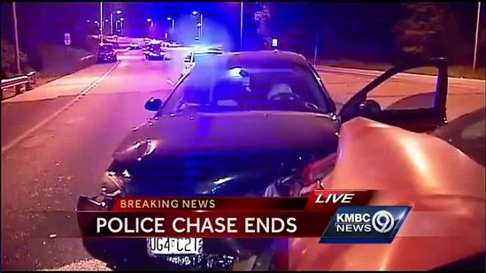 Police arrest 1 after chase ends in crash