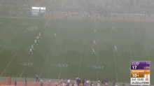 Heavy rain was not going to delay Tennessee's game vs. LSU