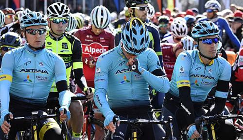 Radsport: Astana nur mit acht Fahrern zum Giro