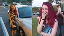Incredible surprise for teen living alone since she was 14
