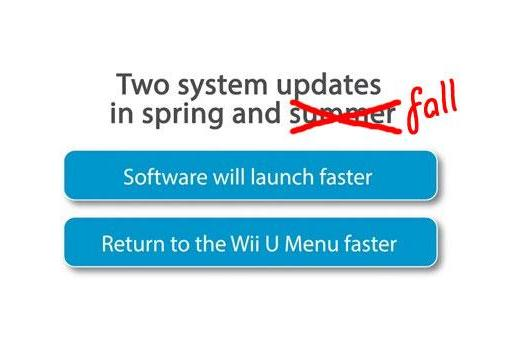 Wii U speed update delayed to fall, Nintendo placates users with minor stability fixes