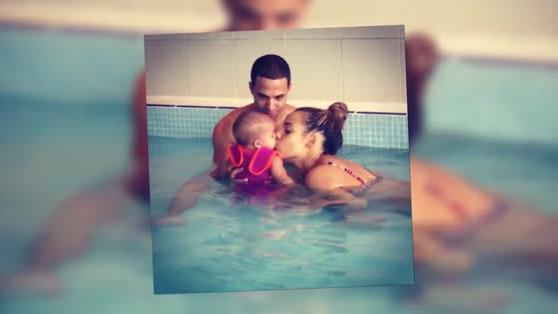 Rochelle Humes Shares an Adorable Baby Swim-Time Snap