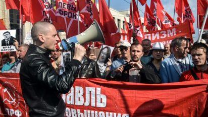 Protesto contra reforma na aposentadoria reúne 3.000 pessoas em Moscou