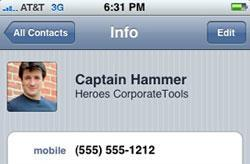 Use 'Company' field in iPhone's Contacts app for tagging