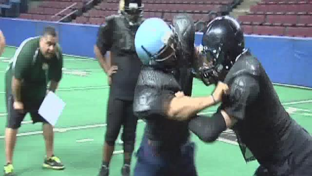 Gold squad prepares for U.S. Army Arena Bowl