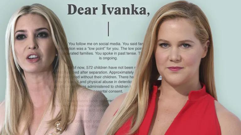 'Dear Ivanka. You follow me on social media.'