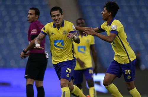Ayala anotó un golazo en Arabia Saudita