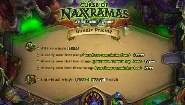 Hearthstone's Naxxramas DLC goes for $25 or less