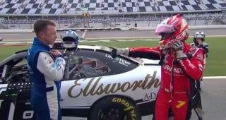 Allgaier, Allmendinger trade post-race words after late run-in at Daytona Road Course
