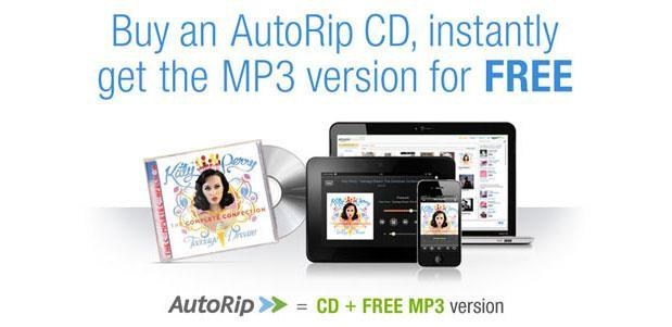 Amazon AutoRip deal gives a free MP3 version of any CD purchase made since 1998