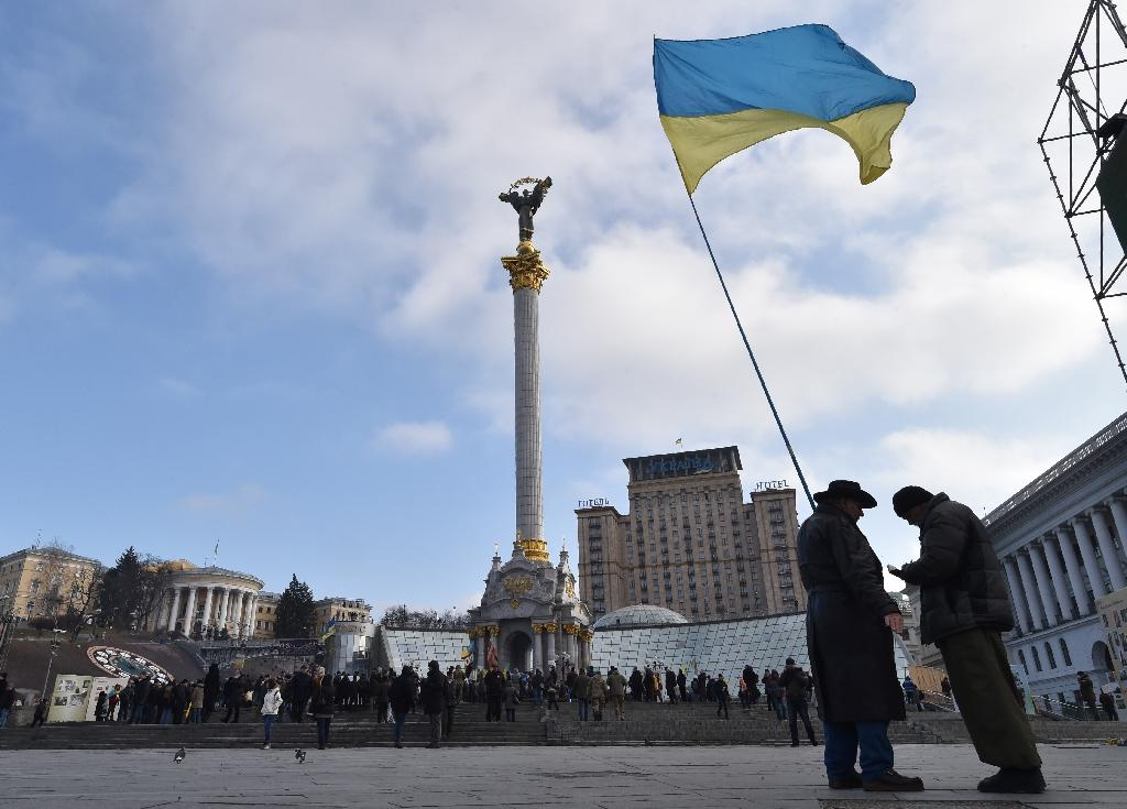 View of Independence Square in Kiev